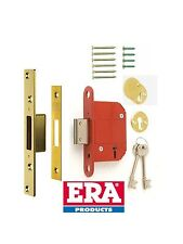ERA 5 Lever Fortress Deadlock Era36132 Polished Brass 76mm