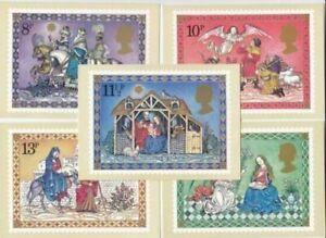 GB 1979 Christmas Nativity SG 1104/1108 Set of 5 PHQ Postcards Mint MNH