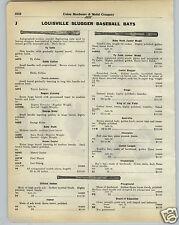 1930 PAPER AD Louisville Slugger Decal Baseball Bat Ty Cobb Kiki Cuyler B Ruth