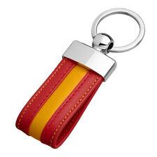 Llavero De Piel Bandera De España (100 % PIEL NATURAL LEGITIMA)