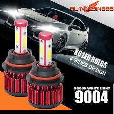 2Pcs 4-side Design 9004 Led Headlight Bulbs High Low Dual Beam 6500K white lamp (Fits: Isuzu)