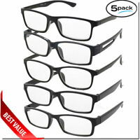 READING GLASSES LENS 5 PACK LOT CLASSIC READER UNISEX MEN WOMEN STYLE BULK LOT