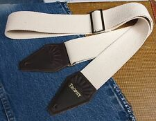 NATURAL Color Woven Cotton USA made TROPHY Guitar Strap