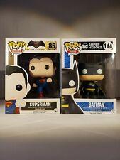 FUNKO POP BATMAN N° 144 Y SUPERMAN N° 85. BATMAN V SUPERMAN Y DC HEROES. 2 PACK