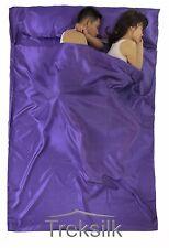 TREKSILK DOUBLE Purple Silk Liner Sack Sleeping Bag Liner Hostel Girls on a Trip