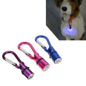 Mini Metal Dog Cat Pet Glowing Flashing LED Safety Light Collar Tag Pendant AU