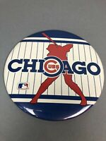 "Large Chicago Cubs 6"" Pinback Pin Button w/ Stand Collectible Baseball Gift USA"