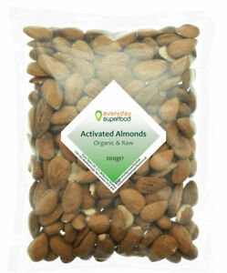 Organic Activated Almonds Raw & Almond Activated Nuts by Everyday Superfood
