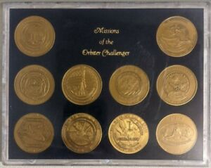Missions of the Orbiter Challenger: Commemorative Coins in Plastic Casing