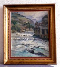 HUILE SUR TOILE  SIGNÉE DE LUCIEN FOURNET  1902-1975 VILLE DE LODS ( Doubs )
