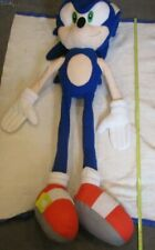 "GIANT JUMBO SONIC THE HEDGEHOG PLUSH HUGE 54"" VERY RARE CARNIVAL PRIZE KELLYTOY"