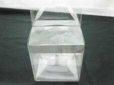 50Pcs Clear Plastic Gable Gift Boxes 8x8x8cm