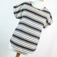 Atmosphere Womens Size 12 Black Striped Basic Tee