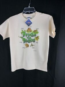 YOUTH T-shirt Frogs and Toads Gildan S M L Cotton Natural Nature NWT New