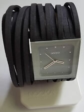 Nooka Mindstyle Scribble Watch - Size XS - Zabari Graphite - Black Grey- New