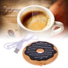 Electric USB Cup Warmer Hot Cookie Donut Mug Warmer Coaster Office Tea Coffee