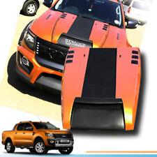 MATTE MATT BLACK+ORANGE BONNET HOOD SCOOP FIT FOR FORD RANGER T6 MK1 2012 13 14