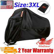 Motorcycle Cover waterproof Heavy Duty for Winter Outside Storage 3XL Snow Rain