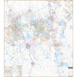 Polk County, Lakeland  & Winter Haven, FL Wall Map