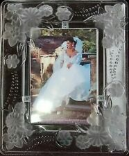 Crystal Clear Signature Decorative Picture Frame Frosted Crystal 5x7