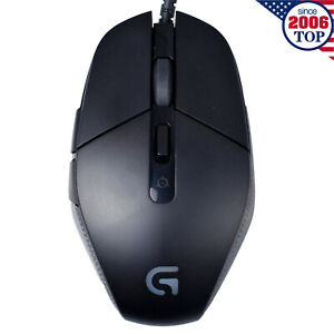 New Logitech G302 DAEDALUS PRIME MOBA Gaming Mouse Wired with Breathe Light