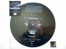JOHNNY HALLYDAY RESTER VIVANT TOUR MAXI 45T  PICTURE DISC DISQUAIRE DAY