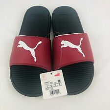 NWT PUMA Authentic Cool Cat Sport Men's Slides Sandals rhubarb white size 12