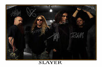 SLAYER AUTOGRAPHED SIGNED  POSTER  - GREAT PIECE OF MEMORABILIA
