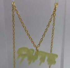 Pale Green Drippy Letter glitter CUTE Pendent I503 Xmas Party 18 inches Long