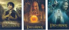Lord Of The Rings TTT Hobby Japan Complete Poster [Non Foil] Chase Card Set #1-3