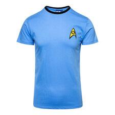 Official Star Trek Unisex Blue Medical / Science Uniform T Shirt All Sizes Medium