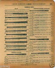 1920 PAPER AD Reach Decal Baseball Bat Burley World Series Fungo Babe Ruth Cobb