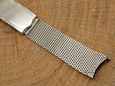"Mesh Deployment watch band 11/16"" Vintage Stainless Steel Jb Champion 17.5mm"