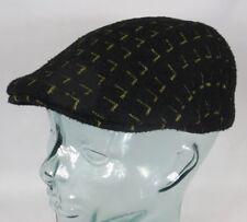 KANGOL MATRIX 507 Flatcap Cap Kangolcap Golfcap Gatsby Mütze schwarz gold NEU