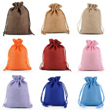 Large 20x30 CM Drawstring Pouches (4x) Burlap Bags Wedding Party Favor Gift Bags