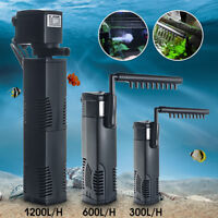 Internal Aquarium Filter Submersible Fish Tank Pump Spray Bar Filtration zh