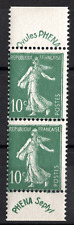 TIMBRES FRANCE année 1924/26 Type SEMEUSE - PHENA - PAIRE n°188  NEUF**