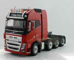 1/32 Scale MARGE MODELS VOLVO FH 16 8x4 Heavy Duty Truck Tractor 750 Diecast Red
