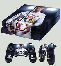 PS4 skin FIFA 18 CALCIO CRISTIANO RONALDO 01 Adesivo + 2 X Pad Decalcomania In Vinile Lay