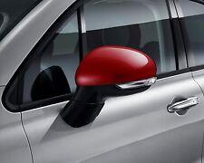 Calotte specchietti retrovisori rosso per 500 X