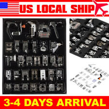 32 PCS Professional Domestic Sewing Machine Presser Foot Set Tool Silver NEW
