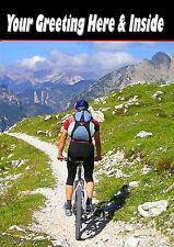 Personnalisé Vélo De Montagne Cyclisme Anniversaire Toute Occasion carte illustrée Insert