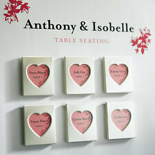 Set Of 3 Aluminum Mini Heart Photo Frame Magnets Bridal Shower Wedding Favors