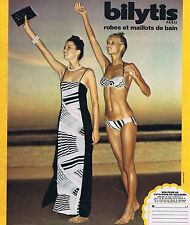 PUBLICITE ADVERTISING 025 1977 BILYTIS robes maillots de bain