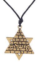 Israel Star of David Pendant Pyramid Necklace Jewish Jewelry Men Women Gift