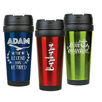 Stainless Steel Travel Mug 16 oz. Personalized Tumbler