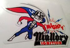 Mallory Ignition sticker decal hot rod rat rod vintage look drag race