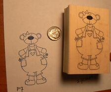 Gardening Bear  rubber stamp WM P17