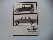 advertising Pubblicità 1962 OLIO FIAT