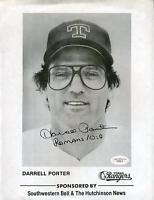 Darrell Porter Rangers Signed Jsa Certed 8x10 Photo Autograph
